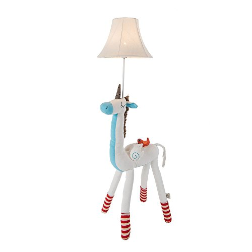 Kids Lamp for Girls, Unicorn Lamp Cute Floor Lamp Decorative Light with Fabric Lampshade for Nursery Bedroom Living Room