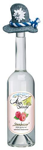 Alpenschnaps | Steinbeisser | 1 x 500ml | Himbeere | pures Alpenglück im Glas | Premium–Schnaps