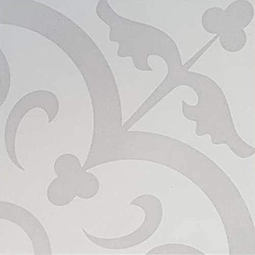 Casa Moro Mediterrane Keramik-Fliesen Hashim 20x20 cm 1qm aus glasiertem Feinsteinzeug in Zementoptik | Marokkanische Bodenfliesen & Wandfliesen für Bad Küchenrückwand Küche Flur | FL7077