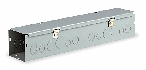 Wiegmann HS446 NEMA 1 Combination Hinge/Screw Cover Wireway with Knockouts, Steel, 4' x 4' x 72'