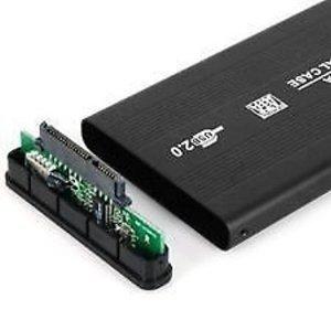 "Frndzmart Black External Portable 2.5"" Sata Casing Hard Disk case USB 2.0 2.5 inch External Hard Drive Enclosure (Black)"