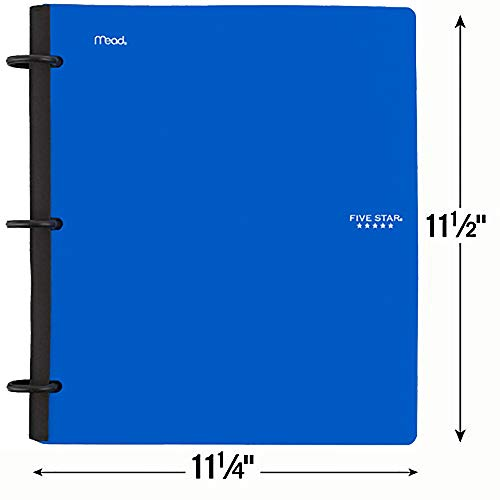 Five Star Flex Hybrid NoteBinder, 1-1/2 Inch Binder with Tabs, Notebook and 3 Ring Binder All-in-One, Blue (72405) Photo #2
