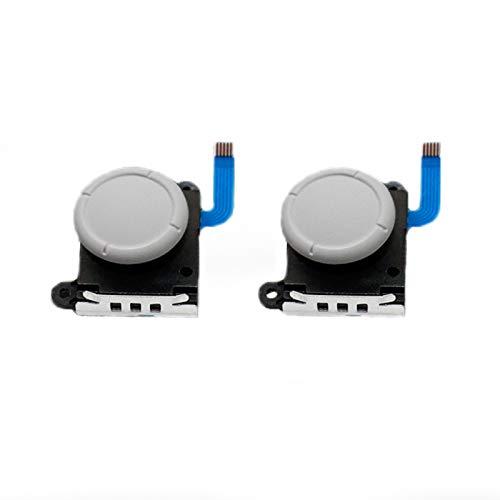 LICHIFIT 2 Joystick Analog Sensor Wippe für Nintendo Switch Lite Joy-Con Controller ThumbStick Cap Tastenmodul Weiß