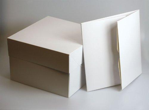 Color blanco cajas de cartón cuadradas para tartas–10'cuadrado (254mm SQ.) (Pack de 5)