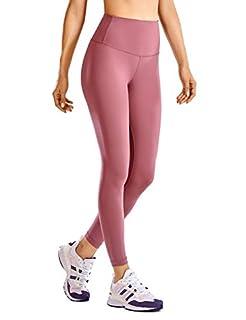 scheda crz yoga donna fitness leggings da girovita alto sportivi pantaloni con tasche - 63cm merlot nebbioso 40
