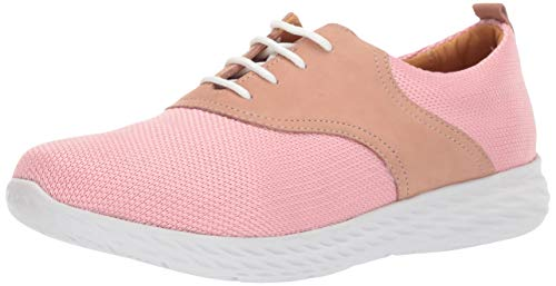 Driver Club USA Womens Leather Greenville Extralight Sneaker Loafer, Blush Nubuck/Fabric, 10.5 M US