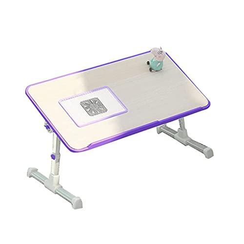 AWJ Tabla Ordenador portátil,Ordenador portátil Ajustable de Escritorio con el Ventilador portátil Plegable Bandeja con Patas de la Cama Tabla de Lectura de Trabajo portátil