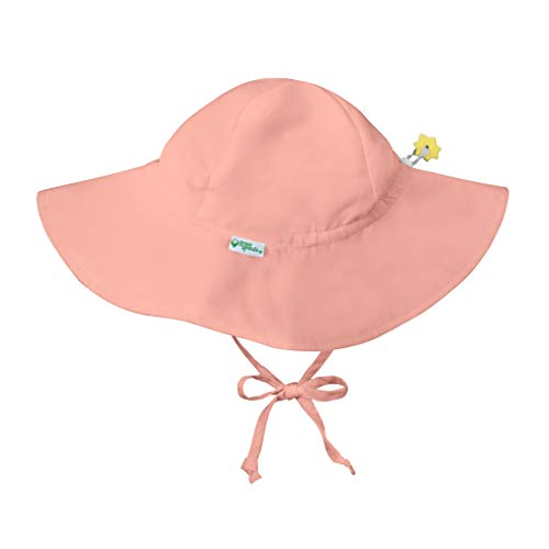 i play. by green sprouts baby girls Brim Protection | All-day Upf 50+ Protection for Head, Neck, & Eyes Sun Hat, Coral, 2-4T US