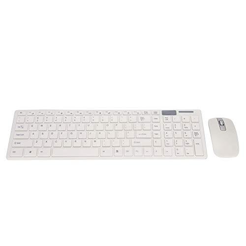Juego de mouse con teclado inalámbrico, Teclado portátil 2,4 GHz de bajo consumo, para PC de escritorio Computadora portátil Smart TV Notebooks Computadoras de escritorio Decodificadores inteligentes