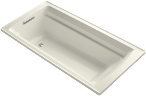 KOHLER K-1125-96 Archer 6-Foot Bath, Biscuit