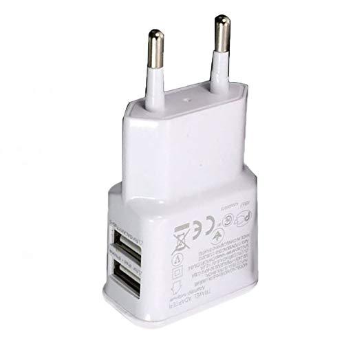Appearanice Adaptador de Corriente USB Dual portátil Cargador de teléfono móvil Enchufe...