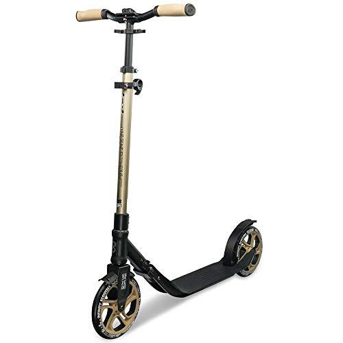 Infinity Scooters Patinete Plegable para Niños y Adultos - Patinete Scooter de Ruedas Grandes 215mm ABEC-7 con Manillar Ajustable en Altura (London)