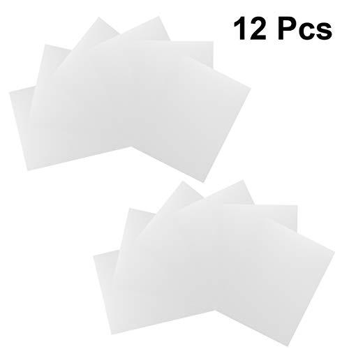 Heallily 12 piezas plantilla en blanco 3d plantilla de plantillas transparentes plantillas de mylar en blanco para estampar plantillas de tela de trazado de pintura con aerógrafo