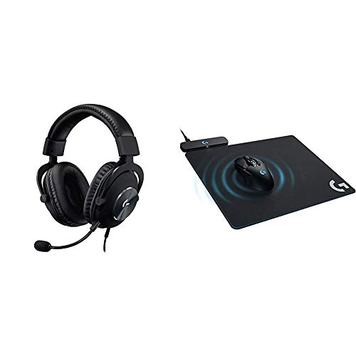 Logitech G Pro X Gaming Headset with Blue VO!CE Technology Bundle with Logitech G Powerplay Wireless Charging System for G703, G903 Lightspeed Wireless Gaming Mice, Cloth or Hard Gaming Mouse Pad