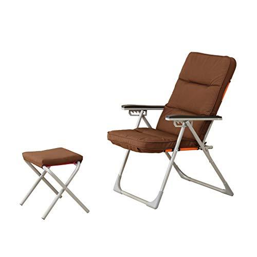 Chaise pliante pour ordinateur Chaise pour bureau à domicile Chaise inclinable Chaise pour dortoir Chaise pour canapé paresseux Chaise pour pause-déjeuner Inclinable avec tabouret pliant