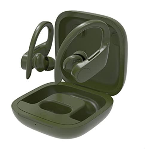 N\C Auriculares Bluetooth inalámbricos biauriculares Deportivos con Ganchos para los oídos Auriculares Impermeables Auriculares de Negocios Manos Libres con luz inalámbrica Bluetooth Individual
