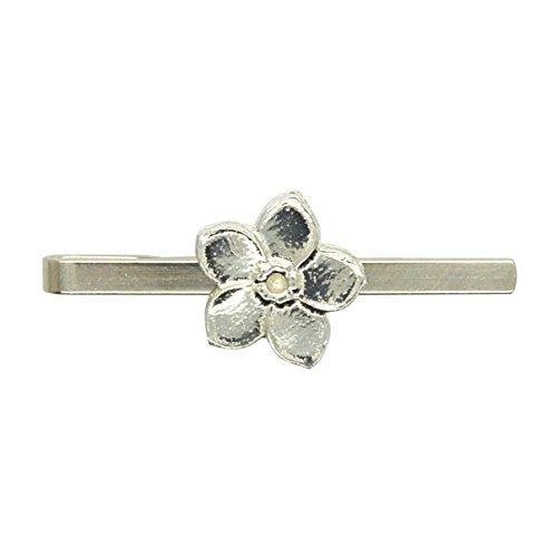 Krawattennadel Vergissmeinnicht Blume aus Zinn (Pewter) von Hand Gegossen