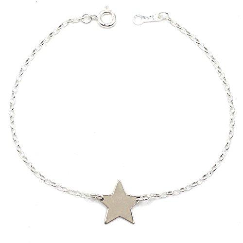 MASBARATA.ES Pulsera Estrella Plata DE Ley 925/1000