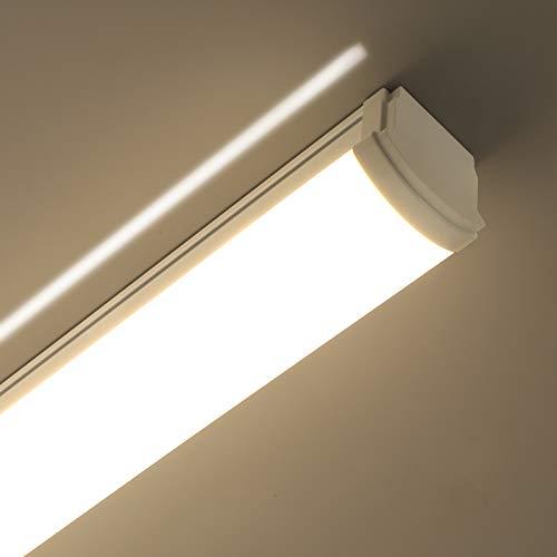 LED Feuchtraumleuchte 120CM,Oraymin 40W 4400LM Super Hell Feuchtraumleuchte Deckenlampe IP66 Wasserdichte Lampen Werkstattlampe Kellerleuchte,Neutralweiß 4000K Flimmerfreie Deckenlampe, 110LM/W