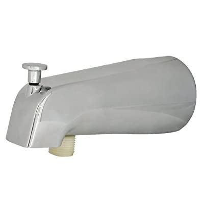 Danco 89249 Universal Tub Spout with Diverter, Brushed Nickel