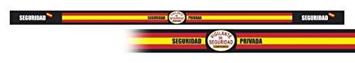 Pulsera SEGURIDAD PRIVADA 6 unidades tamaño 33 x 1,4 cm de hilo tricotado Caza, Pesca, Camping, Outdoor, Supervivencia y Bushcraft + portabotellas de regalo