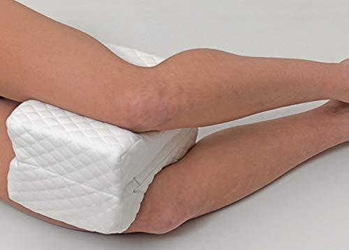 BIANCHERIAWEB Cuscino Bicomfort Leg Pillow Gambe in Gomma Piuma Ortopedico per Ridurre Dolore Tessuto Effetto Massaggiante 1 Pezzo Leg Pillow
