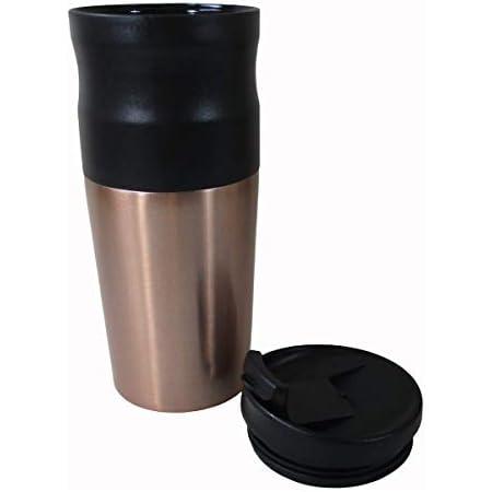 マクロス電動式 オールインワン コーヒーメーカー caf?ravel カフェラベル ブラック (豆を挽く、ドリップ、飲むがこれ一台で) MEK-62
