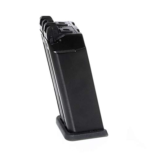 Airsoft Parts WE (WE-TECH) 40rd Gas Magazine for WE G19 Double Barrel Series GBB Pistol Black