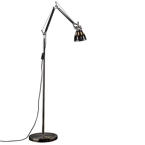 Lunartec Stehlampen: Elegante Retro-Stehleuchte warmweiß im SMD-LED-Stromsparpaket (Stehlampe LED)