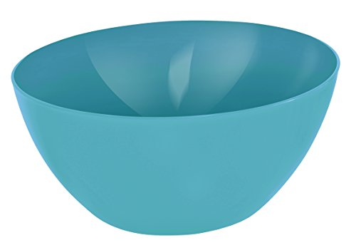 Rotho Caruba Schüssel 8 l, Kunststoff (BPA-frei), blau, 8 Liter (34 x 34 x 15 cm)