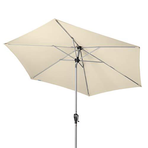 Doppler Active Auto Tilt 280 – Kurbel Sonnenschirm ideal für den Balkon und Garten – Knickbar – ca. 280 cm – Natur