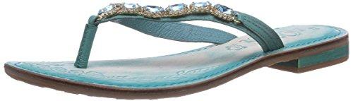 s.Oliver 27104, Sandales pour Femme - Turquoise - Türkis (Turquoise 796), 39 EU