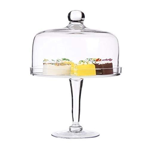 XZG-Geschirr Steak Teller Dessert Table Table Set, Kuchenteller und Deckel Startseıte Falafel Dome-Partei-Dekoration Dessert Tray Glas Chip & Dip Server 17,5/20 / 27,5 / 34CM Salat Platte