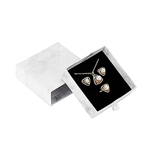 Joyería Organizador de viaje Cajas de joyería para mujer Cajas de regalo de joyería Cubierta de cinturón a prueba de polvo para caja de acabado Juego de caja de joyería con diseño de mármol Caja de