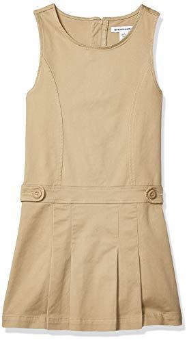 Amazon Essentials Girls' Uniform Jumper, Khaki, Small