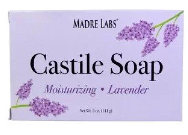 症候群出口腐敗マドレラブ ラベンダー 石鹸 Madre Labs, Castile Soap Bar [並行輸入品]