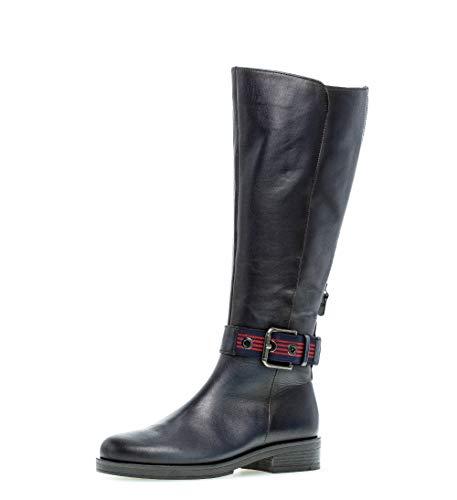 Gabor Damen Stiefel 31.794, Frauen Stiefel,Boots,Lederstiefel,Reißverschluss,River (Effekt),39 EU / 6 UK