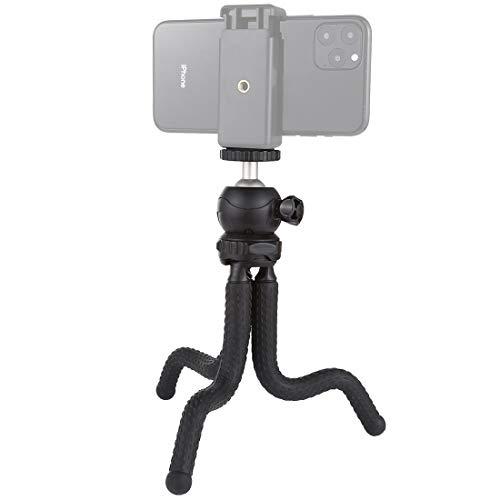 Tripé flexível para câmera PULUZ, mini polvo flexível com cabeça esférica para oPro/Action Cam/DSLR Canon Nikon Sony, Tamanho do Smartphone: 24 x 4,77 polegadas