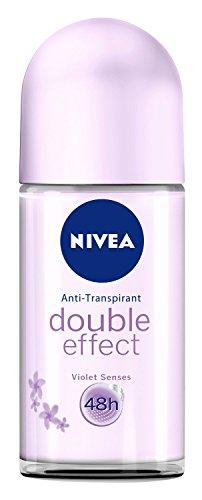 Nivea Double Effect Violet Senses Roll-On Deodorant 50 ml Pack de 3