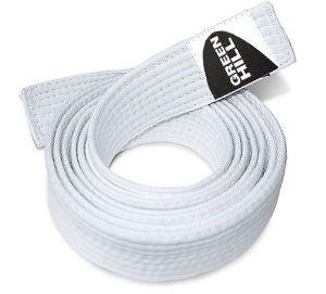 GREEN HILL Cintura Judo Colorata Belt Karate Arti Marziali Bianco Giallo Arancione Verde Rossa Viola Marrone Blu Nera (Bianca, 220 cm)