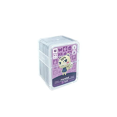 24 pièces Cartes de jeu NFC Tag pour Animal Crossing, (n ° 1-n ° 24). Cartes de cartes Botw avec manchon en cristal compatibles avec Nintendo Switch / Wii U