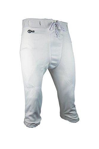 Tag Fußballhose für Jugendliche, mit Schlitzen, Größe XXL, Taillenumfang 88,9 cm, Weiß