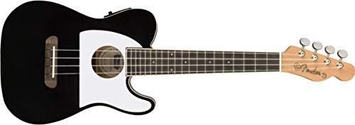 Fender Fullerton Telecaster Ukulele, Schwarz