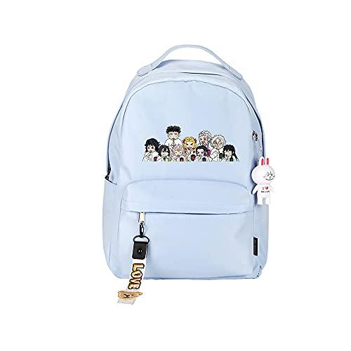 ZZGOO-LL Demon Slayer: Kimetsu no Yaiba Kamado Tanjirou/Nezuko Anime Backpacks Student School Bag Laptop Backpack Charging Port