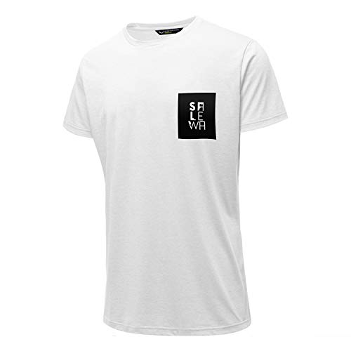 SALEWA Herren NIDABA DRY M S/S TEE Hemden & T-shirts, White, 48/M