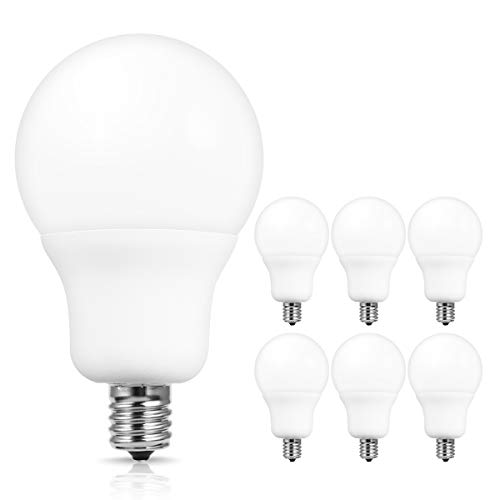 JandCase 6 Pack A19 LED Light Bulbs E17 Intermediate Base (Daylight White)