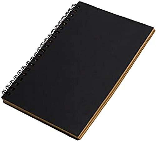 JDFKK 4 Stück Coil Notebook, Retro Spiral Bound Coil Skizzenbuch Blank Notebook Kraft Skizzenpapier, Retro Cowhide Coil Notebook Schulbedarf