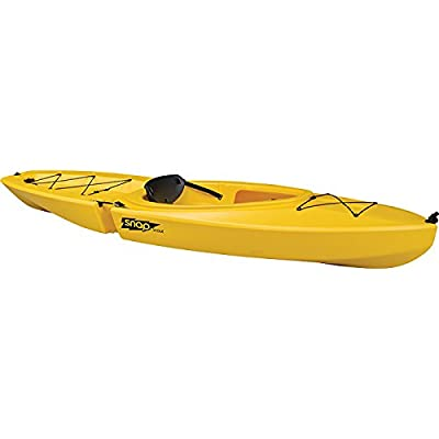 317501-317500 SNAP KAYAKS Snap Scout Solo Kayak, Yellow from Liberty Mountain Sports LLC