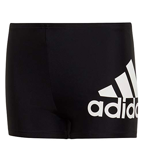 adidas Jungen YA BOS Boxer Swimsuit, Black, 7-8Y