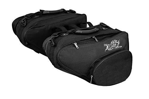 Motorrad-Satteltasche – Profirst wasserdichte Motorrad-Satteltasche Gepäckbox Heavy Duty Produkt Touring Cruisers Motorräder – Schwarz